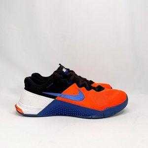 NIKE Men's Metcon 2 Flywire Crimson Blue Sneakers